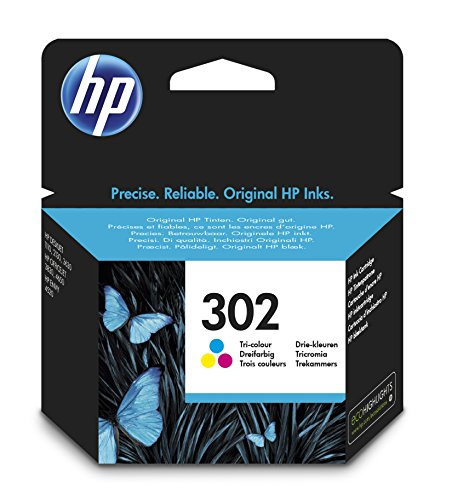 HP 302 F6U65AE - Cartucho de tinta para impresoras (4 ml), tri-color