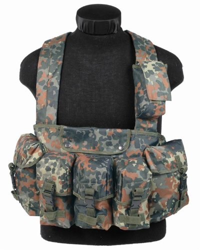 Mil-Tec Chest Rig M4/M16 G36 G3/M14 Vest Airsoft Flecktarn Camo -