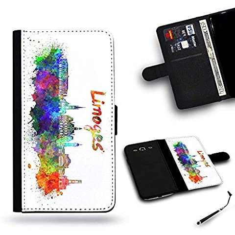 LVSPG Case Phonecell Gift / libero Stylus Protettiva Cassa Pelle Portafoglio Custodia Caso HTC ONE (Libero Su Font)