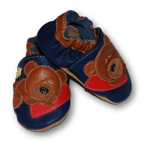 Fiorino , Chaussures souple pour bébé (garçon) jaune Mädchen Gelb Taille S Ours