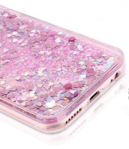 Demarkt Case Cover Pour iphone6/6s Bling TPU 4,7 Pouces Gel Coque Shell /Soft Housse Cas/Protection Shell/Couvrir Coverture Coeur Pourpre 1PC Coeur Pourpre