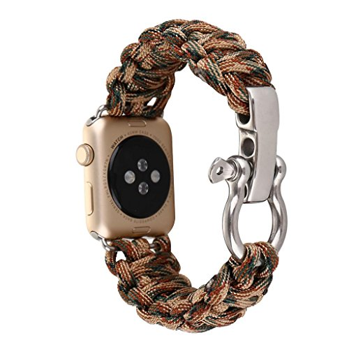 NO.1# LUXURY WATCH  IHEE NEW NYLON ROPE COMFORTABLE ADJUSTABLE WRIST STRAP BRACELET WATCH BAND FOR IWATCH APPLE WATCH 42MM (COLORFUL) REVIEWS  BEST BUY UK