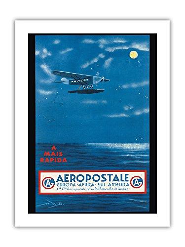 europe-afrique-amerique-du-sud-rio-de-janeiro-bresil-aeropostale-cga-affiche-ancienne-vintage-compan