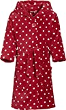 Playshoes Mädchen Bademantel Fleece Punkte, Rot (original 900), 122 (122/128)