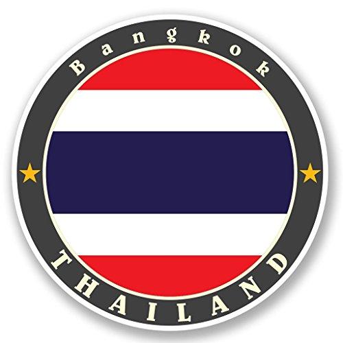 Preisvergleich Produktbild 2 x 10cm/100mm Bangkok Thailand Vinyl SELBSTKLEBENDE STICKER Aufkleber Laptop reisen Gepäckwagen iPad Zeichen Spaß #5636