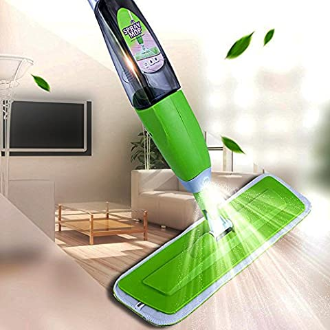 Superfine Fiber Spray Mop With Detachable Scrubber, 360 Degree Microfiber Spray Mop, Professional Floor Cleaning House, Kitchen, Bathroom, Hardwood, Tiles, Laminate, Glass Windows, and More Floor Push
