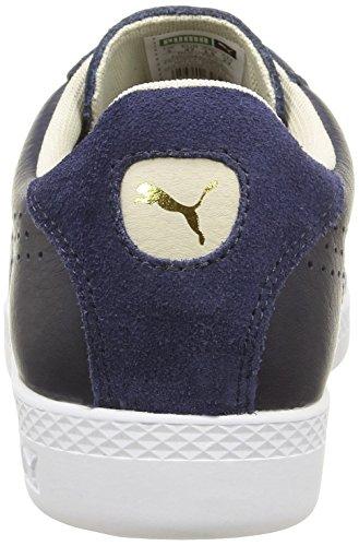 Puma Damen Match Lo Basic Sports Tennisschuhe Blue (Peacoat/Oatmeal) gUdI2h6