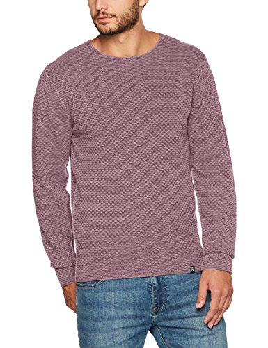 Colours & Sons Herren Pullover O-Neck, Structure Rot (Old Rose 9100)