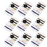 Lot de 100 kits de couture de voyage, kit de réparation de fils avec aiguilles, fils, boutons, épingles pour les équipements d'hôtel, 6 couleurs différentes