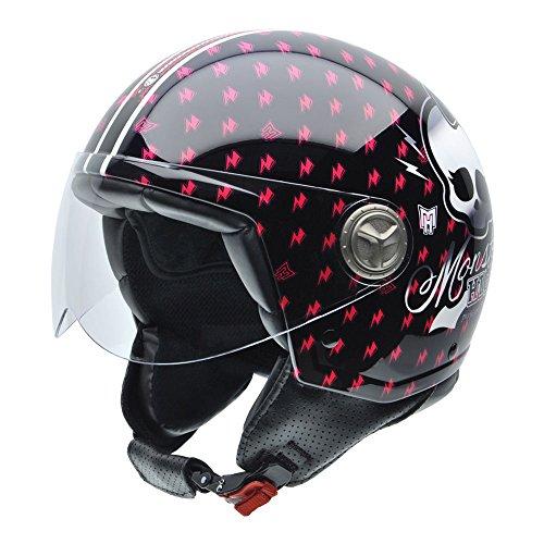 #NZI 050278G771 Zeta Monster High Sweet Fuchsia, Motorradhelm, Größe XS, 54#