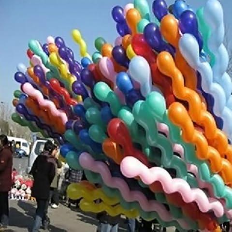 Latex Parti ballons, 10x Spirale Twist Ballons en latex de mariage décoration pour anniversaire d'enfant jouet cadeau