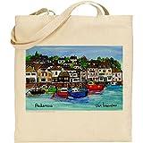 Jan Legard Landschaften | Padstow Harbour | Cornwall | wiederverwendbar | Umweltfreundlich | Baumwolle Tasche | ideal Geschenk | Fun