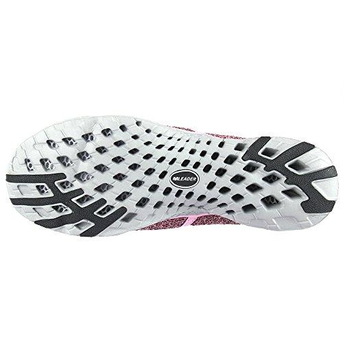 aleader da donna, asciugatura rapida acqua Aqua scarpe Pink8859A