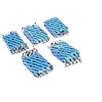 5 قطع من قوالب الصلصال السحري للتنظيف التلقائي للسيارة، تنظف بدقة وتزيل الطين زرقاء اللون