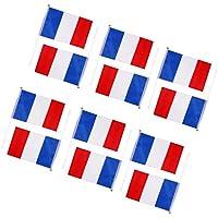 Romote Main agitant France Drapeaux nationaux français Plastic Poles 21 x 14cm Pack de 12