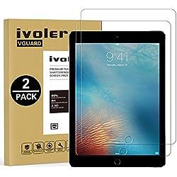 iVoler [Lot de 2] Verre Trempé pour iPad 9.7 Pouces 2018 / iPad 9.7 2017 / iPad Pro 9.7 2016 / iPad Air/iPad Air 2 [Garantie à Vie], Film Protection en Verre trempé écran Protecteur Vitre