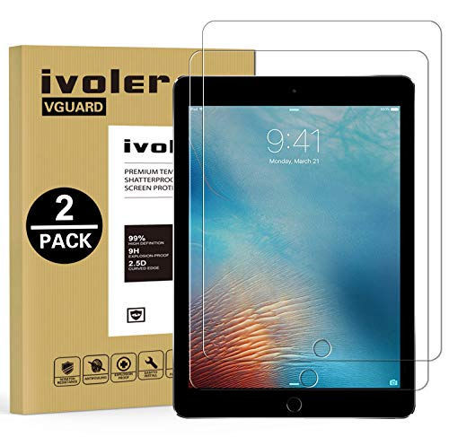 b36bc68037 iVoler  2 Pack  Pellicola Vetro Temperato per iPad 9.7 Pollici 2018   iPad  9.7