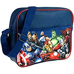 Marvel - Bolso Bandolera para niños, diseño de Los Vengadores, Characters (Azul) - MNCK9016