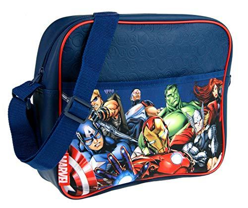 Marvel Umhängetasche für Jungen, Avengers Kuriertasche, Characters (Blau) - MNCK9016 -