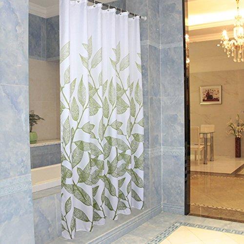 MDRW-Neue Grüne Blatt Verdickung Wasserdicht Schimmel Einen Duschvorhang Wc Badezimmer Hängen Gardinen Partition Vorhangw280 * H200