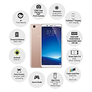Vivo Y71 (18:9 FullView Display, Gold) with Offers