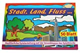 Spielblock Stadt- Land Fluss. Ein lustiges Gesellschaftsspiel von 5 bis 99 Jahren