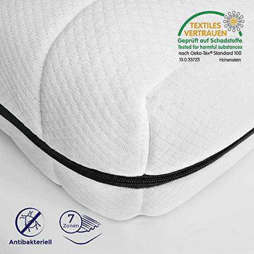 *Mister Sandman ergonomische 7-Zonen-Matratze für alle Schlafpositionen – Kaltschaummatratze H2/H3, Premium Doppeltuchbezug, Gesamthöhe ca. 15cm 140 x 200 cm, H2&h3*