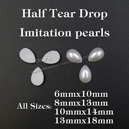 Astonish 2017 Nouvelle façon de décoration Imitation de Perles en ABS Imitation Riss-Tropfles DIY Décoration : 10 x 14 200 pièces Ivoire