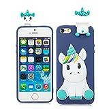 EarthNanLiuPowerTu iPhone 5 Se 5C 5S 5G Coque Gel Mou de Silicone de Silicone Mignon...