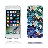 iPhone 6 Plus Case, iPhone 6 Plus /6S Plus Cover 5.5', | TPU Durable Skin for Ladies Girls | Shell / Soft Gel Rubber / Scratches Resistant / Mermaid Fish Scales