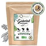 BIO Kaffeebohnen ● Biologische Arabica Kaffee Ganze Bohnen ● Säurearm ● Traditionelle Röstung ● 1kg