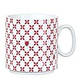 Feinkost Käfer GmbH 104907 Geschirr, Porzellan, Weiß/Rot, 10.5 x 8 x 8 cm, 1 Einheit