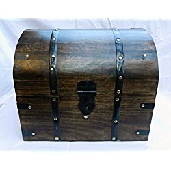 Generic ng madera/Woode/tronco grande grueso sólido de madera/cofre pirata de madera/caja de almacenaje/Tronco NG madera/Woode grande Chunky para < 1& 1292* 1>