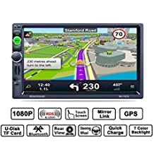 Reakosound Reproductor MP5 7157G de 7 pulgadas con conector USB trasero Función de carga de soporte y función GPS con cámara