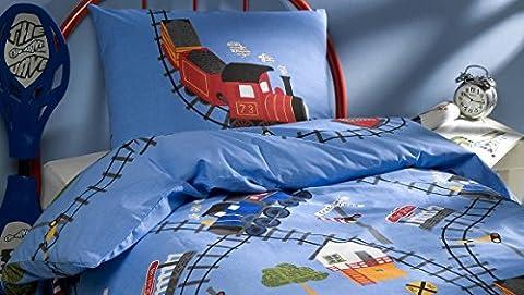 Vamos Duvet Cover + Pillowcase Cotton Flannel 140x 200x 50cm, 140 x 200 x 50 cm