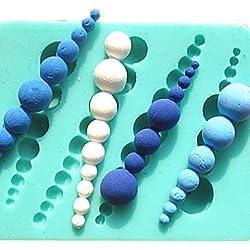 HJLKP perla moldes para pasteles tornillo molde de chocolate para la herramienta de decoración sugarcraft molde de arcilla de la cocina para