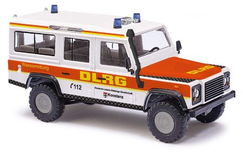 Busch Voitures - BUV50313 - Modélisme - Land Rover Defender - DLRG - 1983