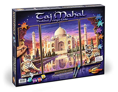 Schipper 9260435 - Malen nach Zahlen, Taj Mahal, 80 x 50 cm