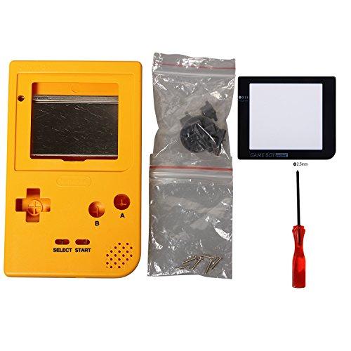 ollständige Gehäuse Shell Fall Deckung mit Bildschirm Schutz Film und Schaltflächen für Gameboy Pocket (Gelb) (Tasche Von Schaltflächen)