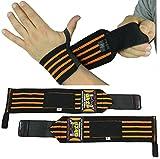 Handgelenkstützen (1 Paare / 2 Wraps) für Gewichtheben / Crossfit / Kraftdreikampf / Bodybuilding...