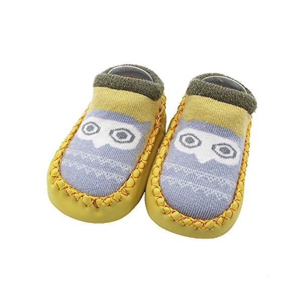 MAYOGO Calcetines Corto Bebe Niño Recién Nacidos Calcetines de Bebé Niña Algodón Antideslizantes Dibujos Animados bebés… 4