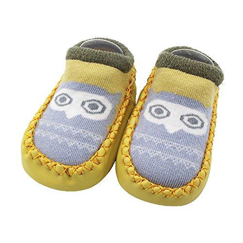 Alwayswin Lauflernschuhe Krabbelschuhe Baby Jungen Mädchen Socken Babyschuhe Cartoon Anti-Slip Socken Slipper Stiefel rutschfeste Socken Pantoffel Schuh Stiefel