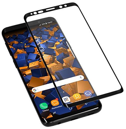 mumbi 3D Hart Glas Folie kompatibel mit Samsung Galaxy S9+ Panzerfolie, Schutzfolie Schutzglas (1x)
