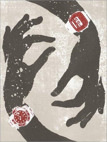 Poster 30 x 40 cm: Armbanduhren mit analogem und digitalem Display am Handgelenk Einer Frau von Ikon Images/Mauritius Images - Hochwertiger Kunstdruck, Neues Kunstposter