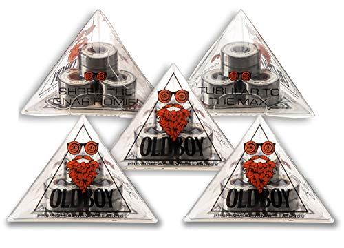 Oldboy 5 Stück Keramik Radlager für Skateboards und Longboards (auch geeignet für Roller, Hockey und Inlineskate), inkl. 5 Sets von je 8 Stück für insgesamt 40 Premium Keramik Kugellager