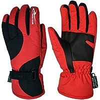 PhilMat Coche eléctrico del viento del frío de guantes caliente de invierno masculino guantes de esquí impermeables