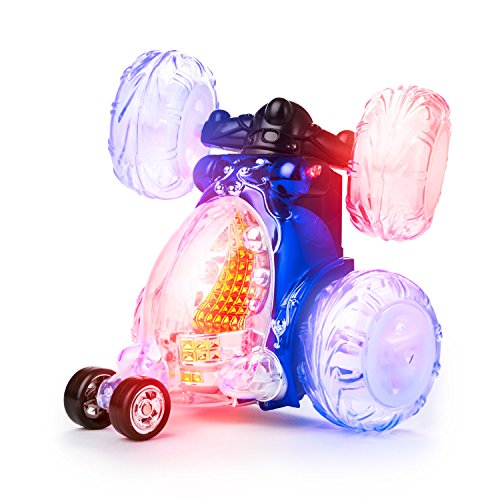 OFFICIAL Licensed Invincible Tornado 360 Remote Control Stunt Car Light Up Toy for Kids with Sound On/Off, Rechargeable Turbo Twister Power Wheels Racing RC Stunt Cars Boys Girls Toys (54Mhz)