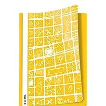 Herma, copertina per quaderni DIN, per quaderni scolastici Cartelle DIN A4 giallo.