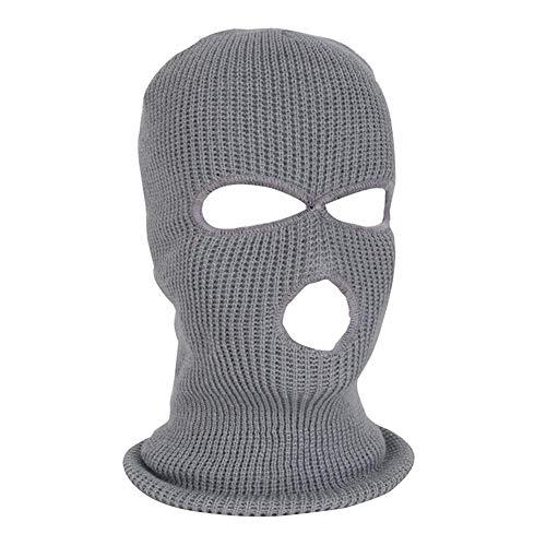 Hook.s Face Cover, DREI-Loch-Strickmütze mit Vollmaske, Winter Stretch-Schnee-Maske Thermal Ski-Maske Warm Gesichtsmasken für Skifahren, Snowboarden, Motorradfahren Winter-ski-maske