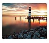 luxlady Gaming Mousepad Bild-ID: 22986873Landschaft Sonnenuntergang Meer Leuchtturm